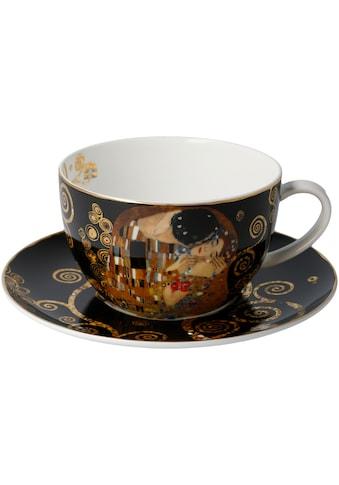 Goebel Cappuccinotasse »Der Kuss«, von Gustav Klimt, schwarz kaufen