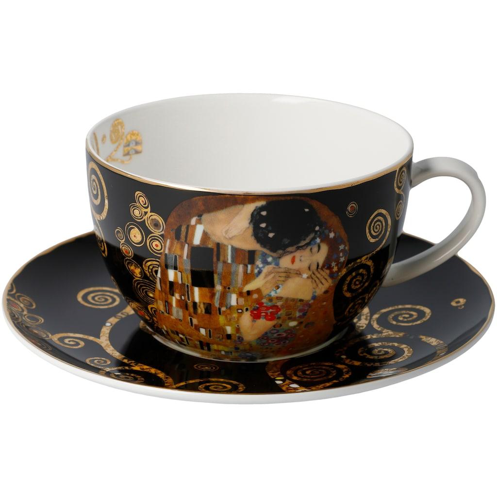 Goebel Cappuccinotasse »Der Kuss«, von Gustav Klimt, schwarz