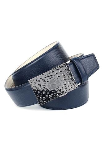 Anthoni Crown Ledergürtel, für Jeans, mit kleinem Wappen auf der Schnalle kaufen