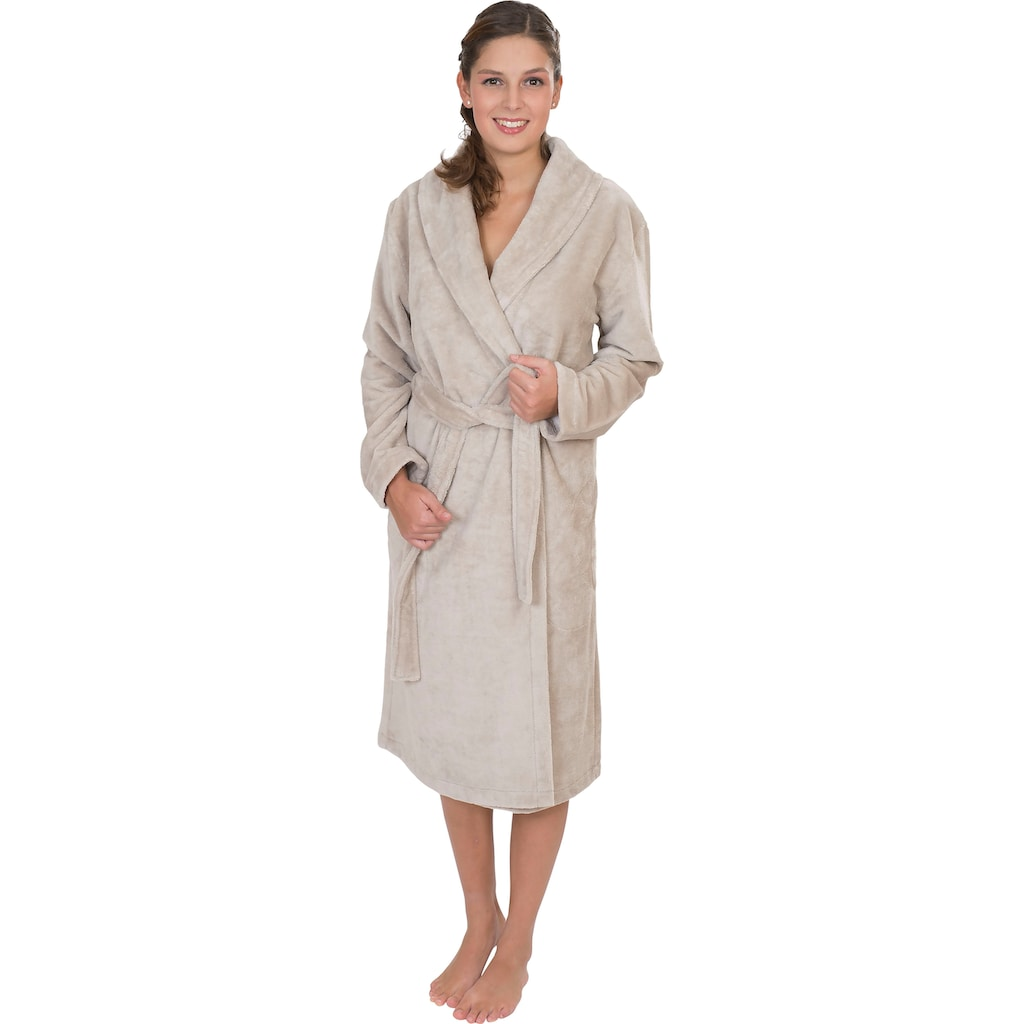 Wewo fashion Damenbademantel »4021«, mit Soft Touch