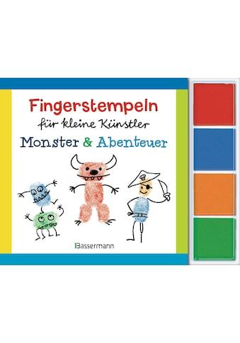 Buch »Fingerstempeln für kleine Künstler-Set - Monster und Abenteuer / Norbert Pautner« kaufen