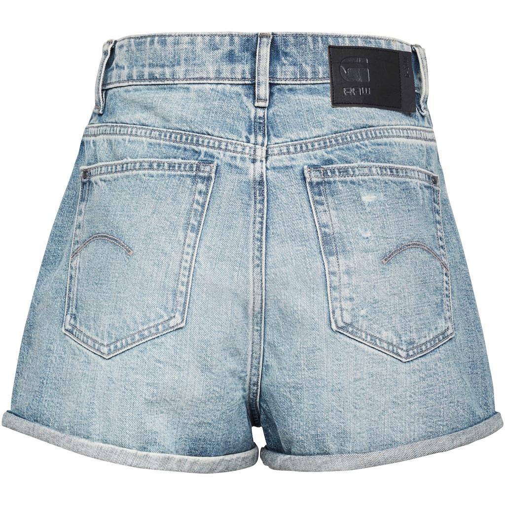 G-Star RAW Jeansshorts »Tedie Ultra High Short«, mit Umschlagsaum am Beinabschluss