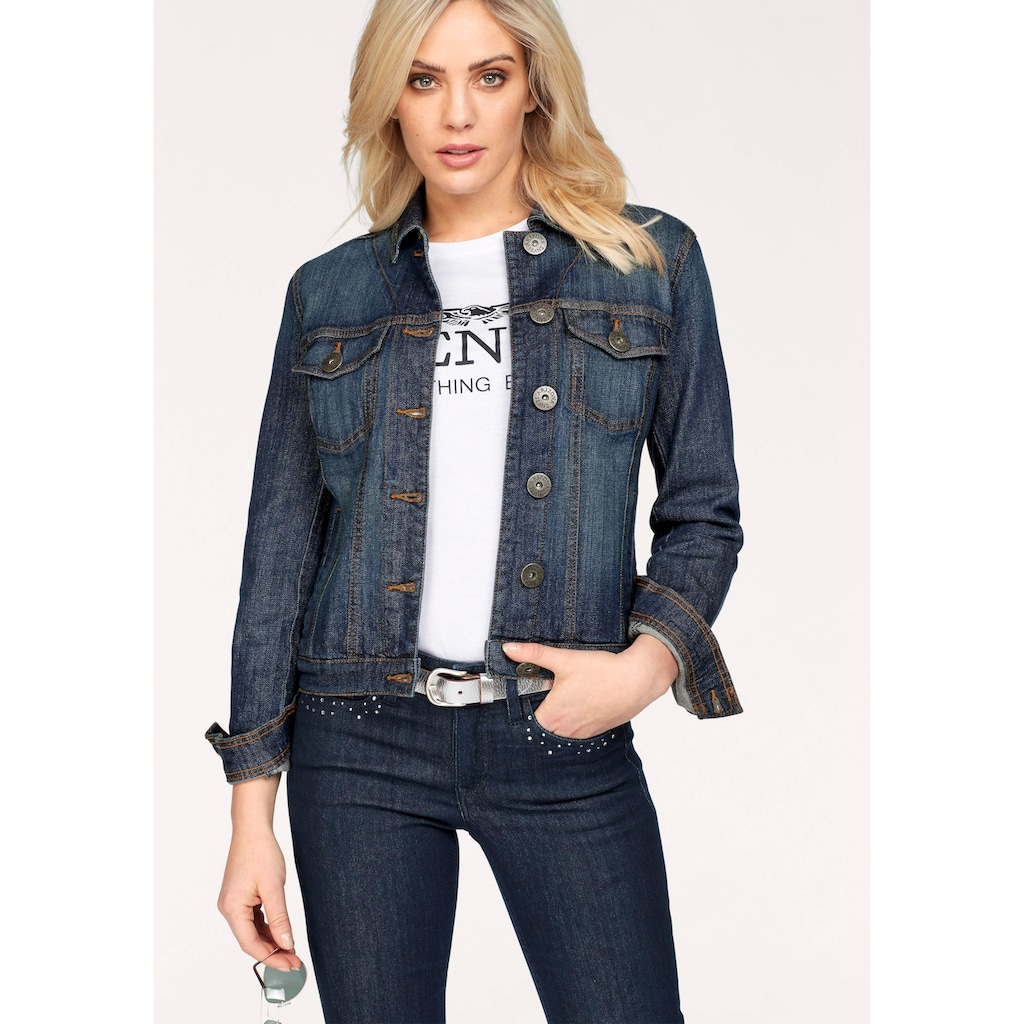 Arizona Jeansjacke, aus elastischem Denim im klassischem Stil