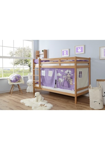 Ticaa Etagenbett »Rene«, mit Rollrost und Textil-Set wahlweise mit Matratze, Buche kaufen