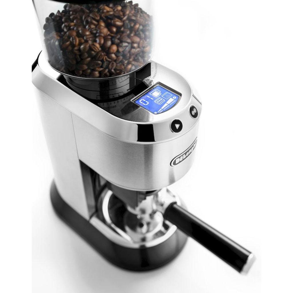 De'Longhi Kaffeemühle »Dedica KG521.M«, 150 W, Kegelmahlwerk, 350 g Bohnenbehälter, inkl. Siebträgeradapter
