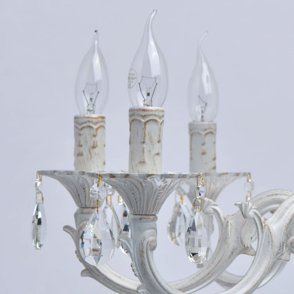 MW-LIGHT Kronleuchter »Aurora«, E14, 1 St., Tageslichtweiß, Hängeleuchte, Pendellampe, Pendelleuchte