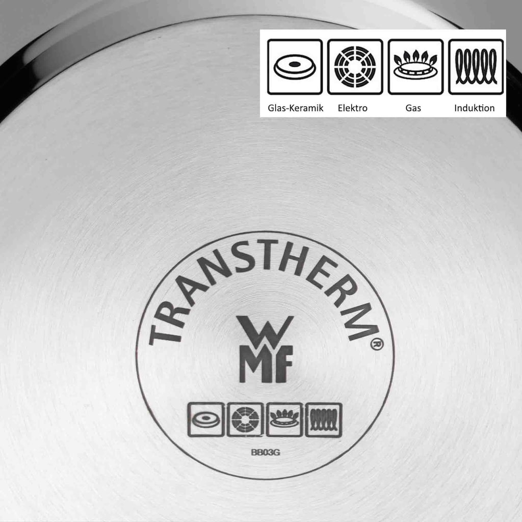 WMF Topf-Set »Quality One«, Cromargan® Edelstahl Rostfrei 18/10, (Set, 8 tlg.), Induktion
