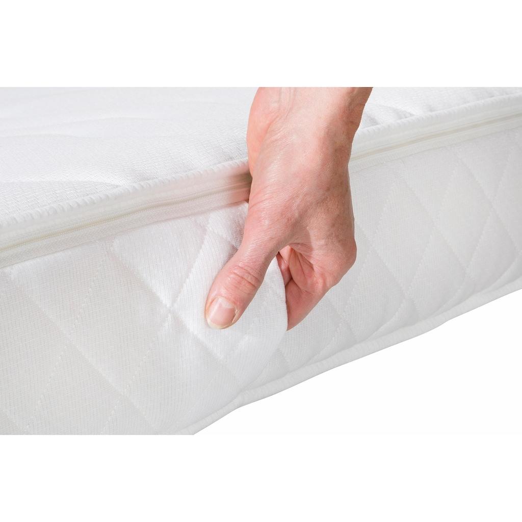 my home Komfortschaummatratze »Top Clima«, 16 cm cm hoch, Raumgewicht: 30 kg/m³, (1 St.), Bezug mit antibakterieller Markenfaser versteppt - ideal für Hausstauballergiker und hygienebewusste Schläfer!