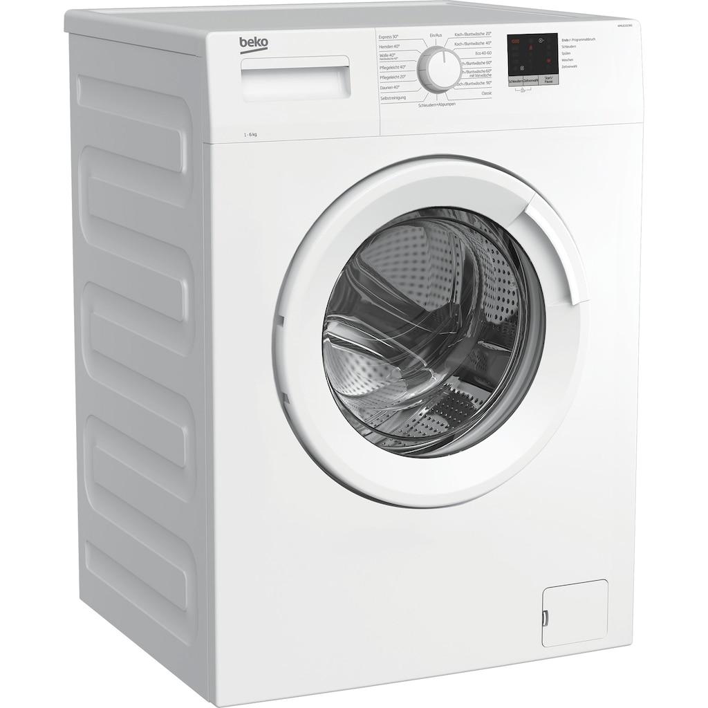 BEKO Waschmaschine »WML61023N1«, WML61023N1, 6 kg, 1000 U/min