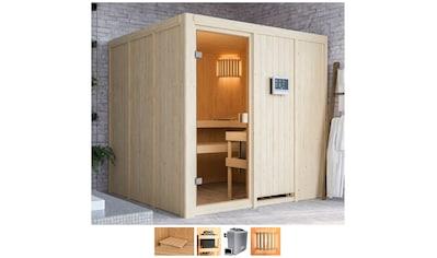 Karibu Sauna »Omari«, 9-kW-Ofen mit ext. Steuerung kaufen
