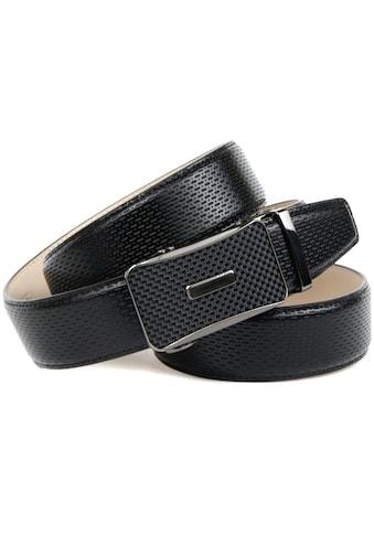 Anthoni Crown Ledergürtel, mit Schließe in Karbon-Design kaufen