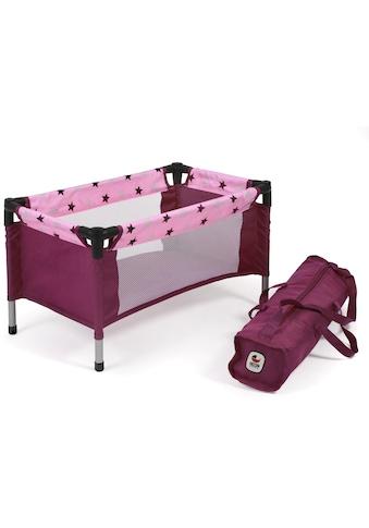 CHIC2000 Puppenbett »Puppen-Reisebett, brombeere«, mit Tragetasche kaufen