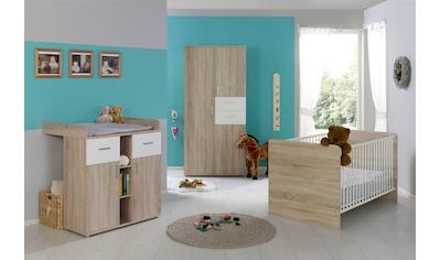 BMG Babyzimmer-Komplettset »Maxim«, (Set, 3 tlg.), Bett + Wickelkommode + 3-trg. Schrank kaufen
