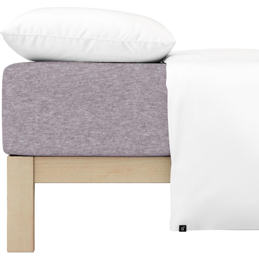 Schlafgut Spannbettlaken »Melange Uni«, passend zu Bettwäsche und Kissenbezug