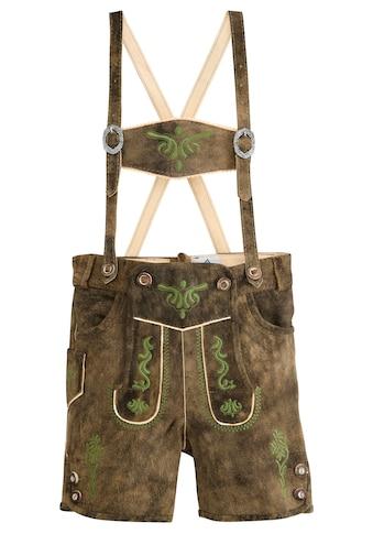 Isar-Trachten Trachtenlederhose, mit traditioneller Stickerei kaufen