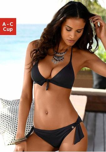 LASCANA Triangel-Bikini-Top »Lola«, mit Zierschleife und Push-Up-Effekt kaufen