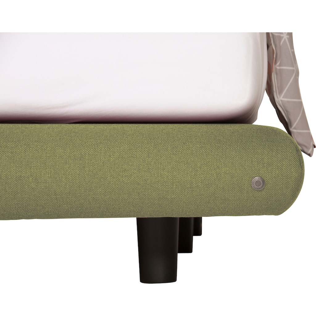 TOM TAILOR Boxspringbett »SOHO PILLOW BOX«, in Schwebeoptik, mit TOM TAILOR Knopfprint, Höhe 120 cm