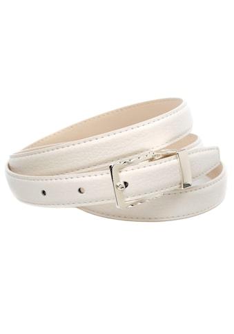 Anthoni Crown Ledergürtel, in schmaler Form und gemusterter Schließe kaufen