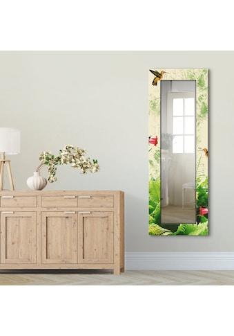 Artland Wandspiegel »Kolibri«, gerahmter Ganzkörperspiegel mit Motivrahmen, geeignet... kaufen