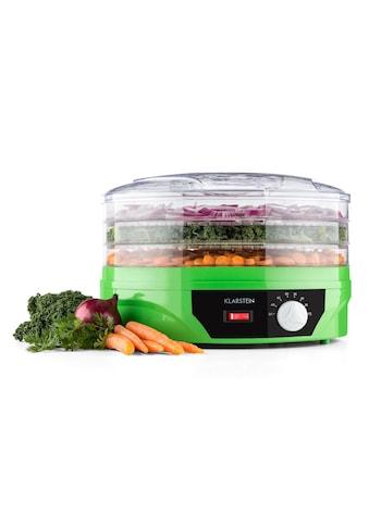 Klarstein Dehydrator grün Trockner 260W Thermostat »Sunfruit« kaufen