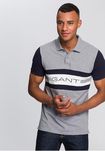 Gant Poloshirt, mit plakativem Kontrasteinsatz kaufen