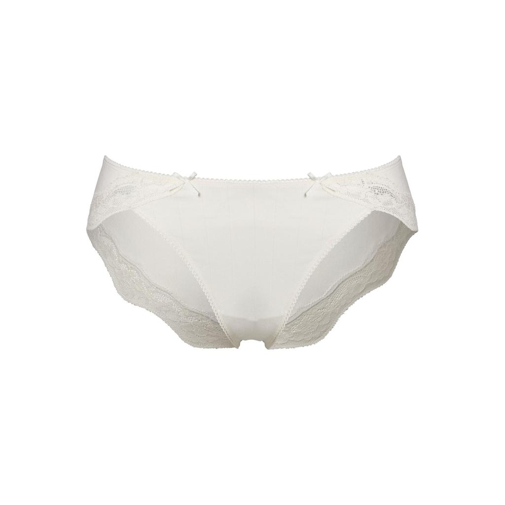 LASCANA Bikinislip, (2er-Pack), mit zarter Spitze und Nadelzugstreifen