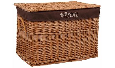 """Home affaire Wäschekorb, mit Schriftzug """"Wäsche"""" kaufen"""