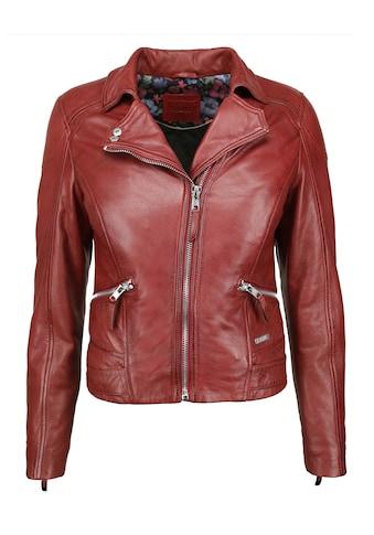 MUSTANG Lederjacke »31019271«, mit Hemdkragen kaufen