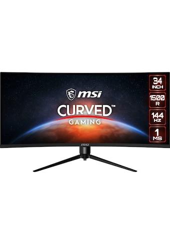 """MSI Curved-Gaming-Monitor »Optix MAG342CQR«, 86 cm/34 """", 3440 x 1440 px, UWQHD, 1 ms Reaktionszeit, 144 Hz, höhenverstellbar kaufen"""