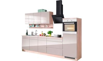 HELD MÖBEL Küchenzeile »Virginia«, mit E - Geräten, wahlweise mit Induktionskochfeld, Breite 290 cm kaufen