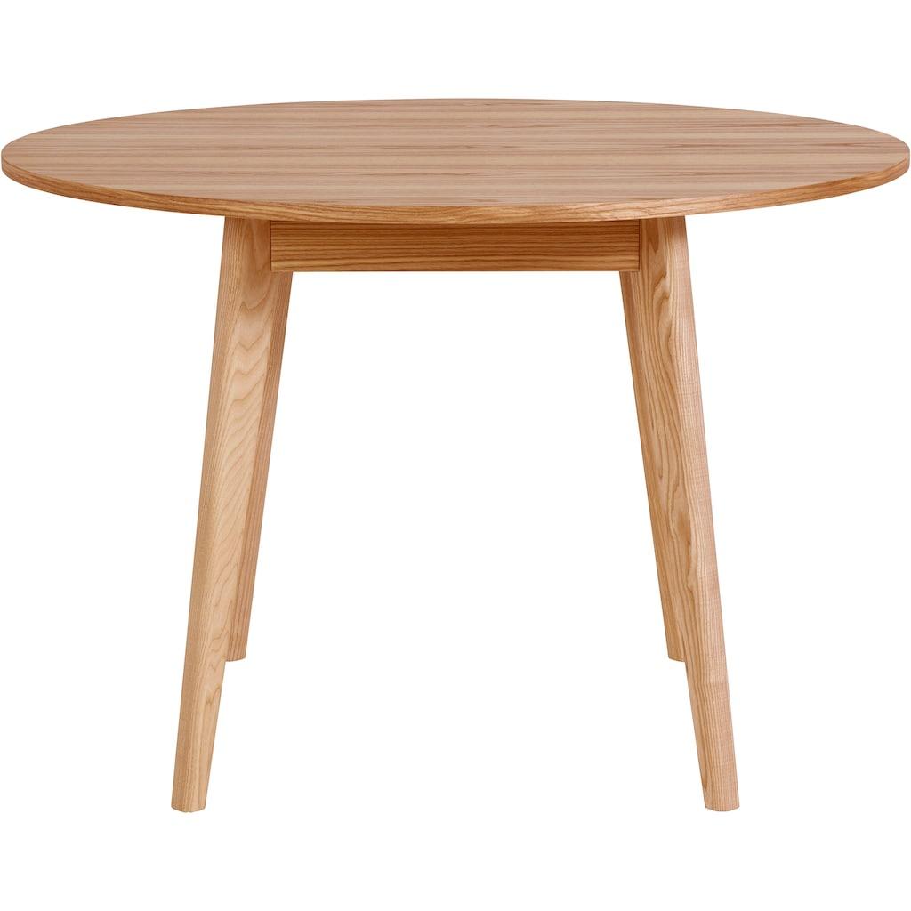 andas Esstisch »Alfredo«, Beine aus Massivholz