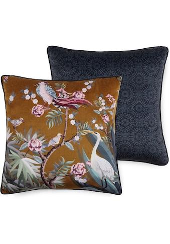 Descanso Dekokissen »Sarenza«, mit Blumenprint und Vögeln kaufen
