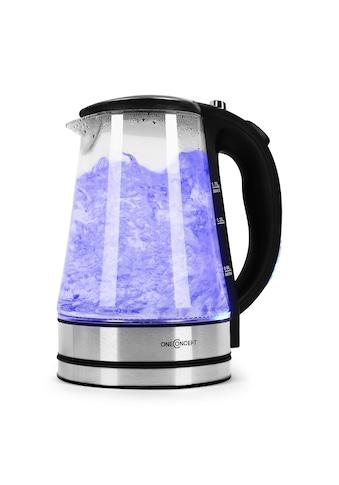 ONECONCEPT Wasserkocher 2200W 1,7L LED - Beleuchtung Edelstahl schwarz »Blue Lagoon« kaufen