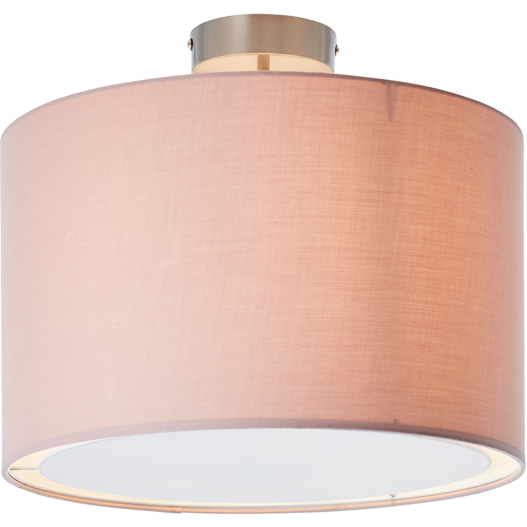 Lüttenhütt Deckenleuchte »Lüchte«, E27, Deckenlampe mit Stoffschirm rosa / rosé, Ø 40 cm, Höhe 32 cm