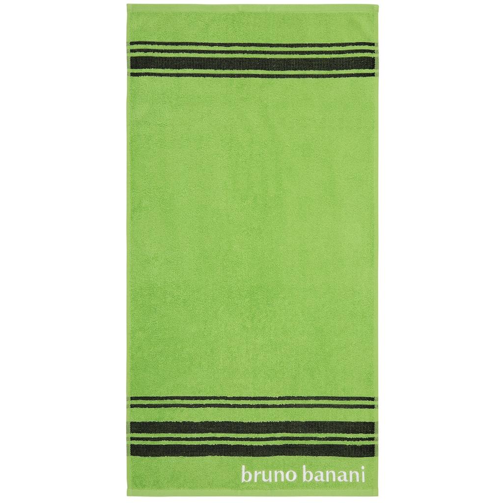 Bruno Banani Handtuch Set »Daniel«, mit Streifen und Markenlogo