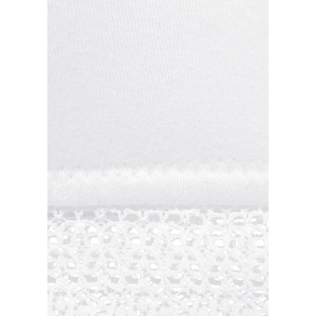 petite fleur Bralette-BH, mit Spitzenband, aus weicher Baumwolle