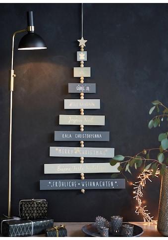 Dekobaum »Fröhliche Weihnachten«, mit Weihnachtswünschen in verschiedenen Sprachen kaufen