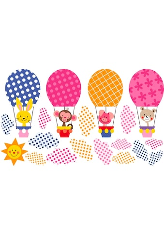 Wall-Art Wandtattoo »Muster - Lustige Tiere im Heißluftballon« kaufen