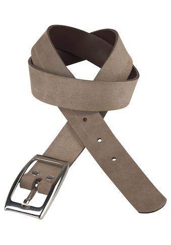 J.Jayz Ledergürtel, Veloursleder mit glänzender Schließe, Plus Size Größen kaufen