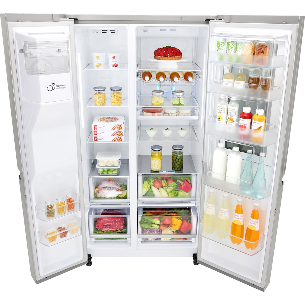 LG Side-by-Side »GSX960NEVZ«, 9, GSX960NEVZ, 179 cm hoch, 91,2 cm breit, Door-in-Door