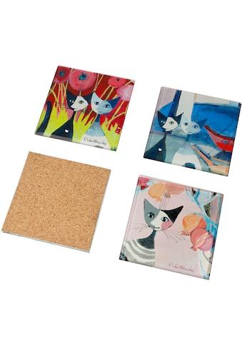 Goebel Glasuntersetzer »Colori del paradiso«, (Set, 4 tlg.) kaufen