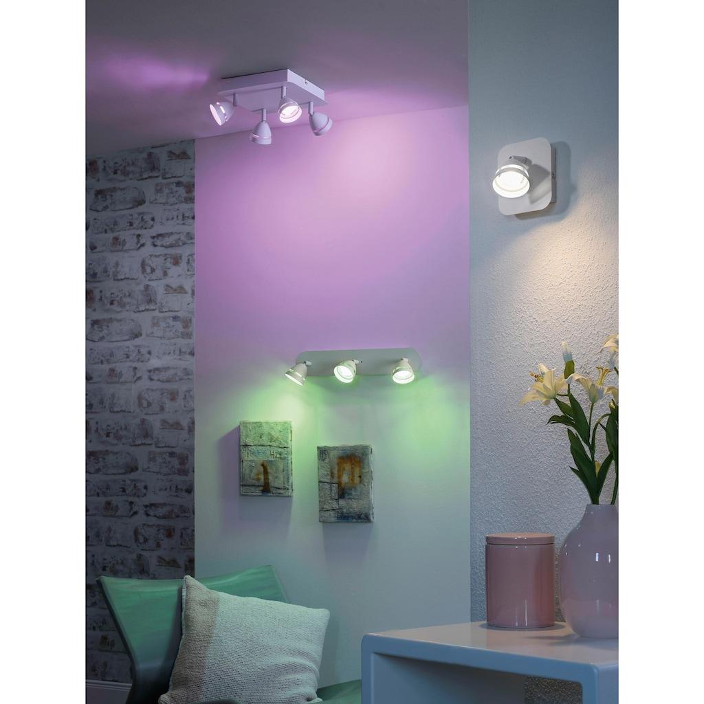 TRIO Leuchten LED Wandleuchte »GEMINI«, LED-Board, Warmweiß-Neutralweiß, Mit WiZ-Technologie für eine moderne Smart Home Lösung