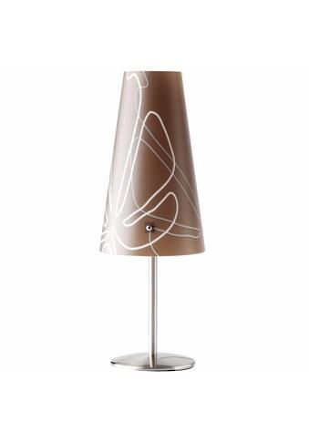 Brilliant Leuchten LED Tischleuchte, E14, Isi Tischleuchte dunkelbraun kaufen