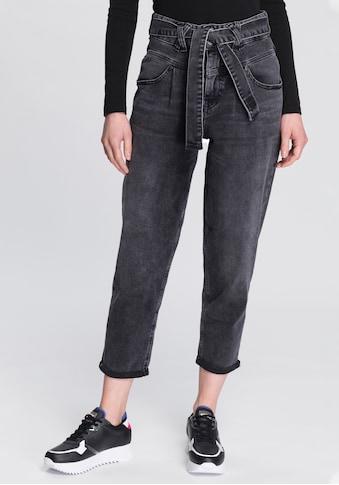Herrlicher 7/8-Jeans »KABIRA CROPPED«, Slouchy-Jeans mit Denim-Bindeband kaufen