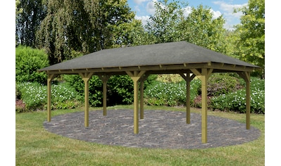 Karibu Holzpavillon »Mailand 2«, BxT: 345x695 cm kaufen