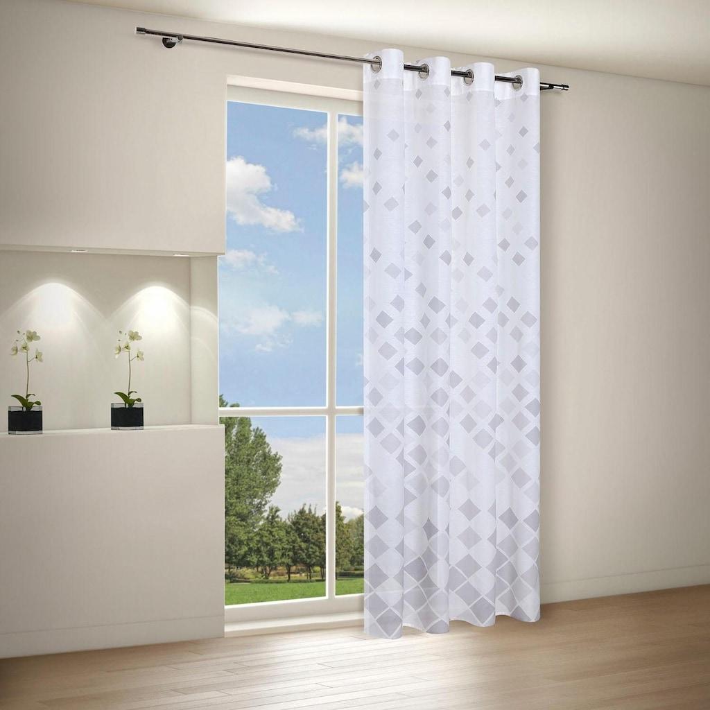 Gerster Vorhang »Jonas«, HxB: 235x140, Moderner Ösenschal bedruckt