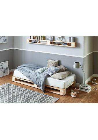 ATLANTIC home collection Palettenbett, aus massiver Fichte, wahlweise mit Matratze kaufen
