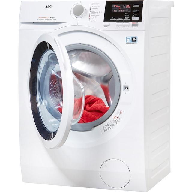 AEG Waschtrockner L7WB58WT, 8 kg / 4 kg, 1550 U/Min