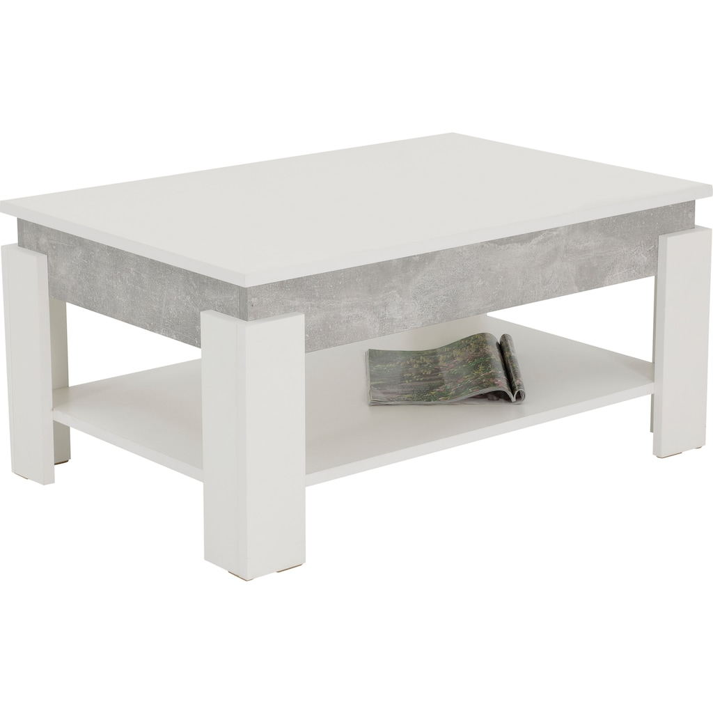 HELA Couchtisch »Theo«, Tischplatte mit Hebefunktion