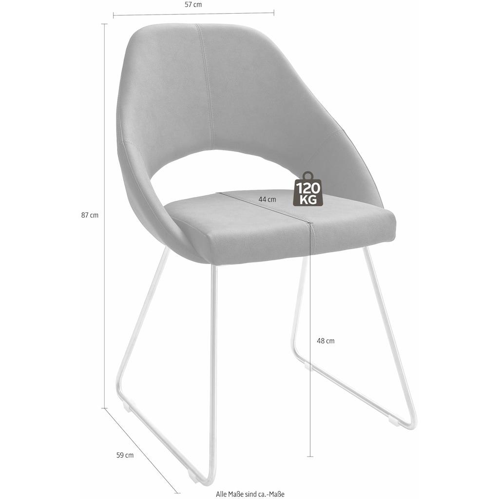 MCA furniture Kufenstuhl, Stuhl bis 120 Kg belastbar